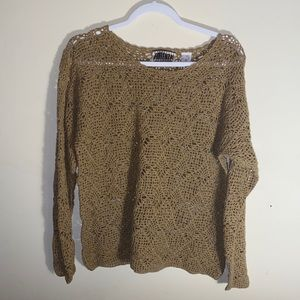 Forenza VNTG crochet knit sweater size M